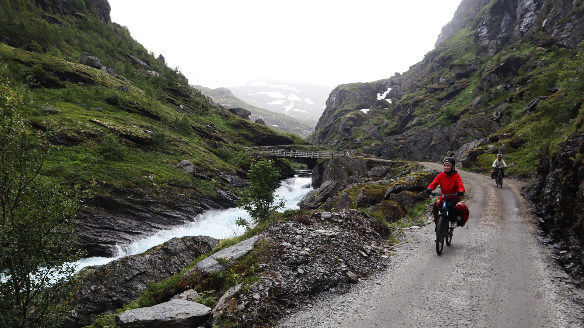 Cyclists on Rallarvegen.